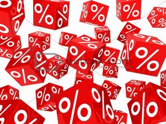 red sale percent cubes