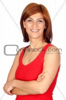 Beautiful redhead girl