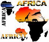 Set Africa Map Illustration
