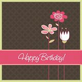Birthday card, vector