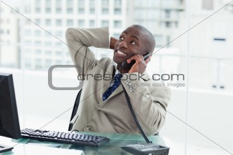 Office worker on the phone