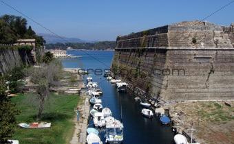 Small port on the island Corfu