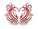 wreath of hearts