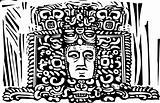 Mayan Stele Head