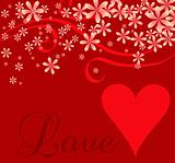Love Heart Cursive Background