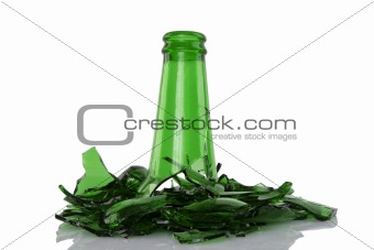 broken green bottle