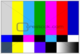 Television colored bars signal