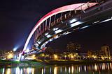 bridge at night in Taipei