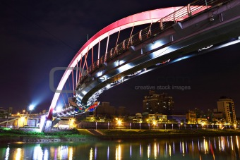 bridge at night in Taipei