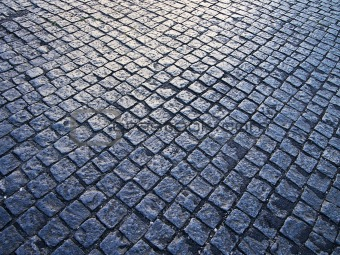 Cobblestone Pattern With Light