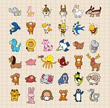 hand draw animal set