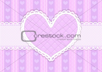 Vector pink and purple cute Valentines card