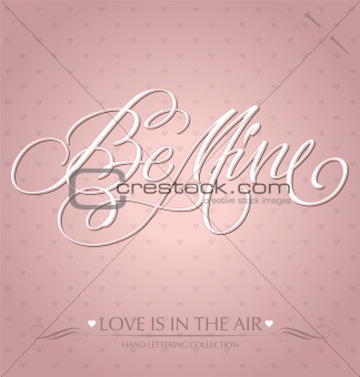 'be mine' hand lettering (vector)