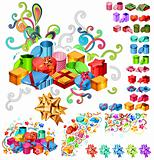Big Collection of Gift Boxes