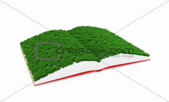 Book with grass pages