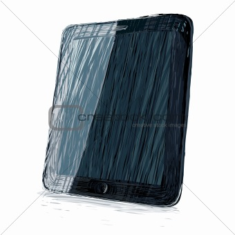 Digital pad vector illustration. All colors and layers editable,