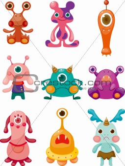 cartoon Monsters icons set