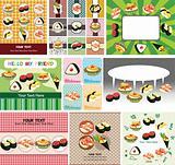 Japanese food menu card
