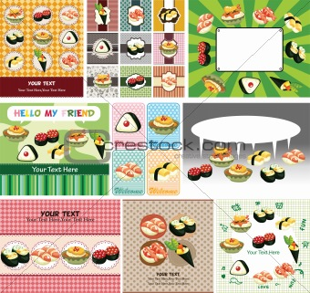 Japanese food menu card