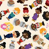 wolrd people seamless pattern