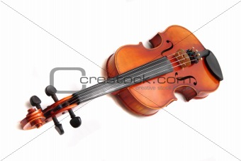 old violins isolated on the white background
