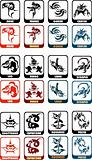 zodiac sign vector set
