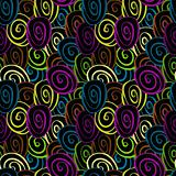 vector seamless pattern with funky circles