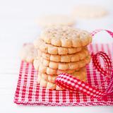 Pile of crunchy cookies