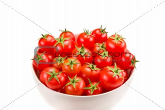 Tomatoes inside white bowl