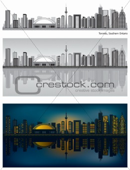 Toronto skyline with reflection in water