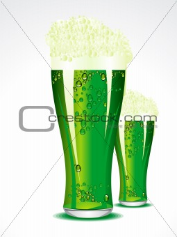 abstract green beer