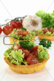 cup corn with tomato salsa
