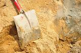 Tool shovel cement