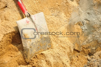 Tool shovel cement