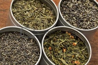 green tea samples