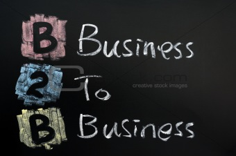 Business to business concept written in chalk on blackboard