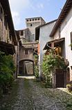 Alleyway. Torrechiara. Emilia-Romagna. Italy.