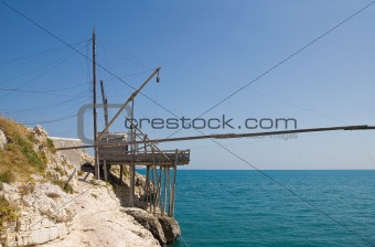 Trabucco. Vieste. Puglia. Italy.