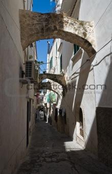 Alleyway. Vieste. Puglia. Italy.