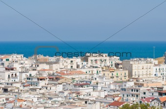 Panoramic view of Vieste. Puglia. Italy.