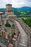 Castle of Vigoleno. Emilia-Romagna. Italy.