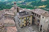 Panoramic view of Vigoleno. Emilia-Romagna. Italy.