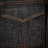 Black jeans fabric with pocket