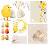 Easter Set with chicken and eggs