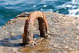 Rusty iron attachment in dock