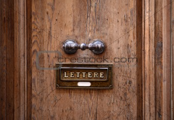 Old Door And Letterbox