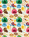 pet tool seamless pattern