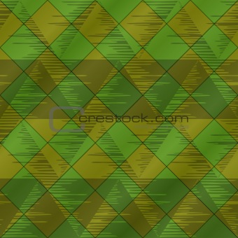 Abstract seamless plaid, green