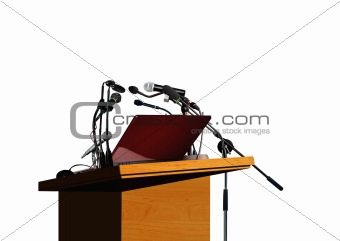 Seminar speech podium