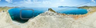 Summer coastline panorama.